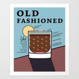Old Fashioned Print Art Print