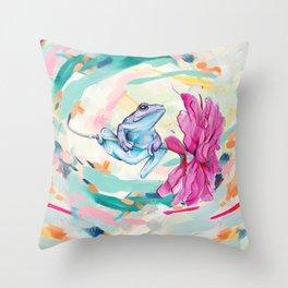 Frog Trip Throw Pillow
