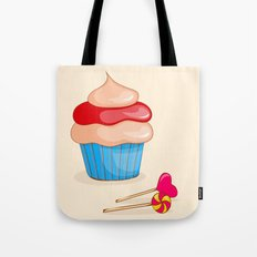 cupcake  with candy Tote Bag