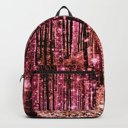 Magical Forest Vibrant Pink Living Coral Backpack