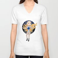 artrave V-neck T-shirts featuring artRAVE - ARTPOP by Aldo Monster
