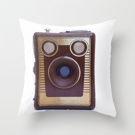 Boxed Camera Throw Pillow