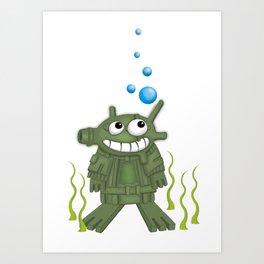frogmen Art Print