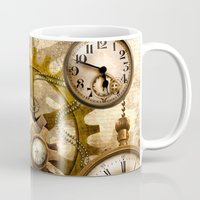 steampunk Mugs featuring steampunk by Ancello