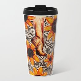 Tip Toe in the sunflower patch Travel Mug