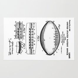 Football Patent Rug