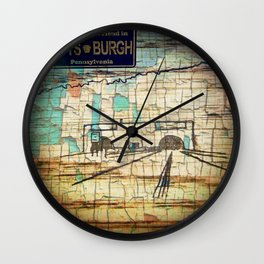Distressed Compilation Wall Clock