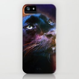 Colorful Expressions Black Leopard iPhone Case