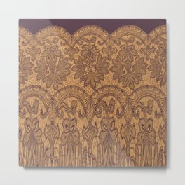 lace border stretched tonal Metal Print