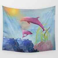 under the sea Wall Tapestries featuring Under the Sea by naturessol