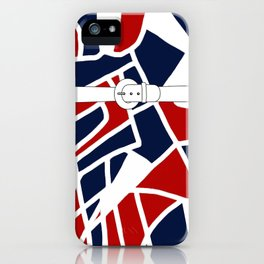 Red White & Blue iPhone Case