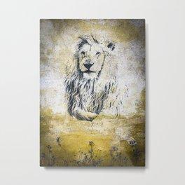 Coal Drawn Lion608917 Metal Print
