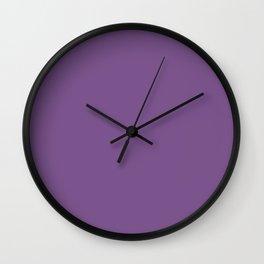 Dark English Lavender 1 - Color Therapy Wall Clock