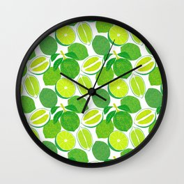Lime Harvest Wall Clock