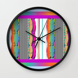 Stripes With Color Wall Clock