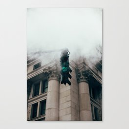Steam in the city Canvas Print