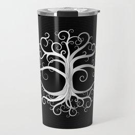 Tree of life Black and White Travel Mug