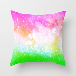 Fun and Bright Space Throw Pillow