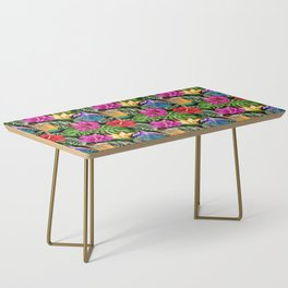 Tropical Flora Summer Mood Pattern Coffee Table