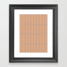 Peach and Gray Tribal Pattern Framed Art Print