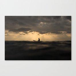 Surfer Sunset Canvas Print