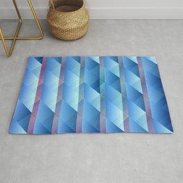 Blue plastic bars Rug