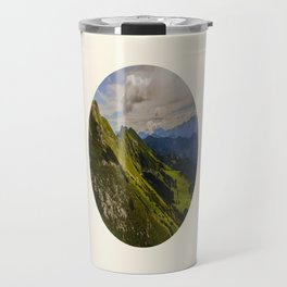 Green Musical Mountains Round Photo Frame Travel Mug