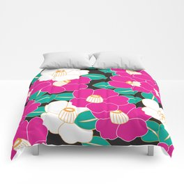 Shades of Tsubaki - Pink & Black Comforters