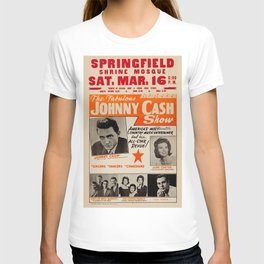 1967 Johnny Cash, Carter Family, Carl Perkins at Springfield Shrine Mosque Concert Poster T-shirt