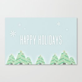 Happy Holiday Trees Canvas Print