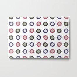 Blobby Dots Metal Print