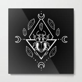 Scarab Queen // B&W 01 Metal Print