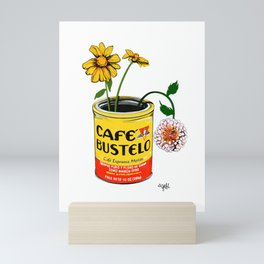 Coffee and Flowers for Breakfast Mini Art Print