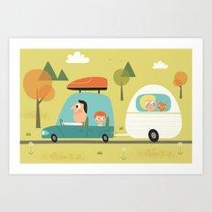 Sur la route des vacances  Art Print