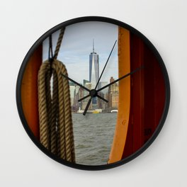 Freedom Tower through The Boat Wall Clock