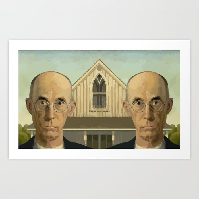 Gay American Gothic - LGBT Marriage Equality Art Print