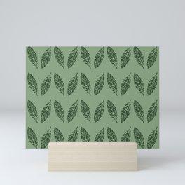 Tropical foliage Green #tropical #leaves #homedecor Mini Art Print
