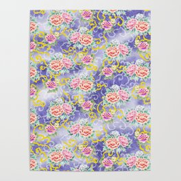 Japanese floral pattern Poster
