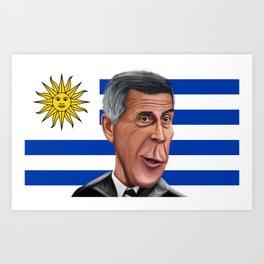 Óscar Wáshington Tabárez World Cup 2014 Art Print