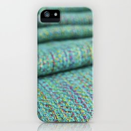 Advancing twill, hand dyed tencel iPhone Case