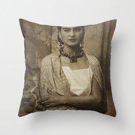 Frida Kahlo Vintage Throw Pillow