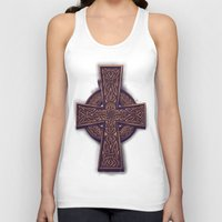 celtic Tank Tops featuring Celtic Cross by pakowacz
