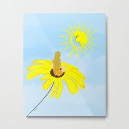 Sun and Flower Goddess  Metal Print
