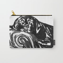 Black Lab - day bed Carry-All Pouch