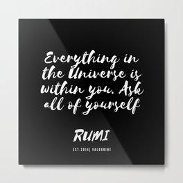 9   Rumi Quotes Good Vibes 190514 Metal Print