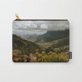 Vibrant Mountain Range Landscape, Big Bend Carry-All Pouch