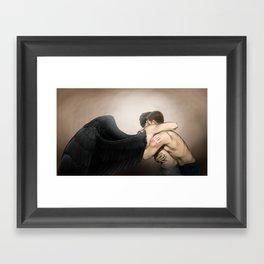 Hold me tight Framed Art Print