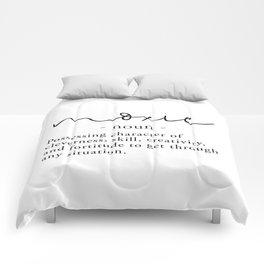 Moxie Definition - Minimalist Black Comforters