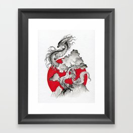 Rising dragon Framed Art Print