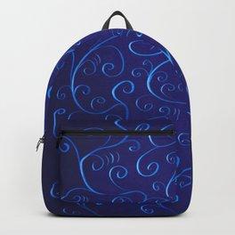 Mysterious Glowing Blue Swirls Backpack